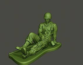 American soldier ww2 wounded A8 3D printable model