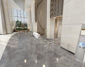 3D model Office Building Lobby - Reception Hall 1