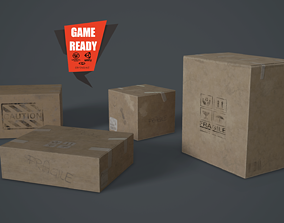 3D asset Cardboards Low Poly Game Ready