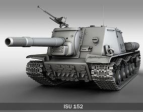 3D model ISU-152 - Soviet heavy self-propelled gun
