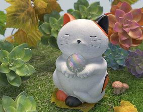 Maneki Neko Cat 3D asset