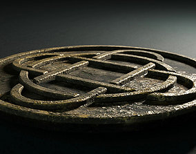 3D asset animated celtic coin