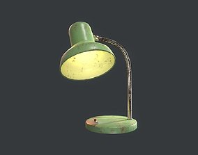 Old Retro Table Lamp 3D asset