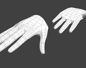 3D asset game-ready Anime Girl Hand Base V1