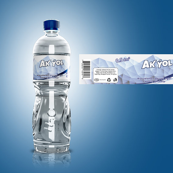 Drinking water label and brand designing