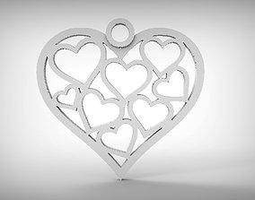 Heart pendant 6 3D print model