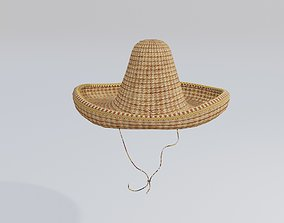 sombrero mexican hat uv unwrapped with pbr 3D asset