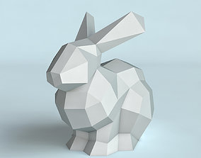 Rabbit poly triangular 3D print model