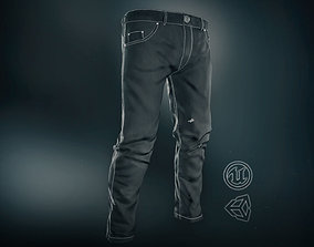 3D asset Black Jeans Pants
