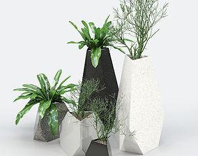Treesquare Rockbound 01 pot-plant 3D model