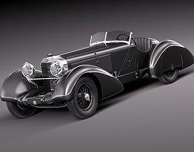 3D Mercedes-Benz 710 SSK Trossi Roadster 1930