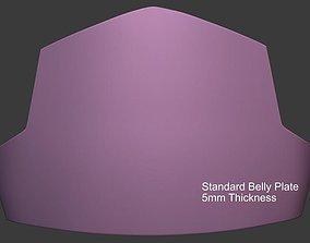 3D printable model Mandalorian Belly Plate Armor