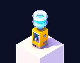 Low Poly Water Cooler 3D asset realtime