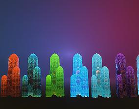 Mineral 8 color variations 3D asset