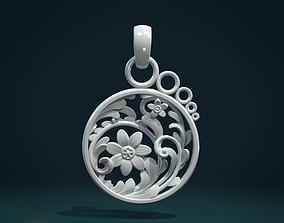 3D printable model Scrollwork Pendant flower