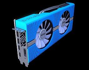 pc RX580 SAPPHIRE NITRO PLUS BLUE EDITION 3D model