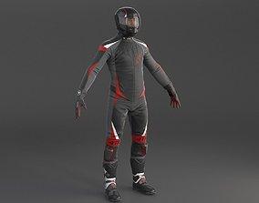 3D model Biker Sport motorcycle rider