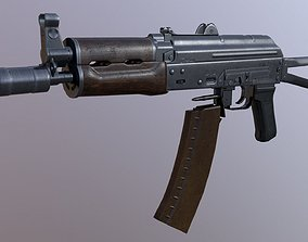 AKS-74U rifle 3D asset