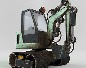 3D model Excavator LowPoly