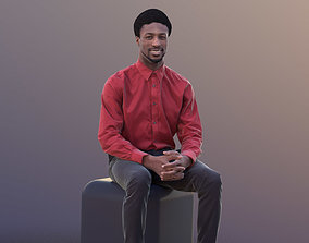 3D asset low-poly Bruce 10386 - Sitting Business Man