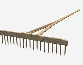 Wooden rake 3D