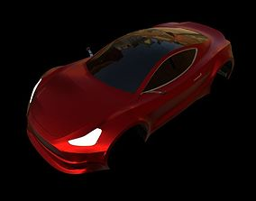 3D model Tesla Motors Roadster
