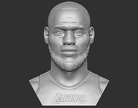Lebron James bust for 3D printing