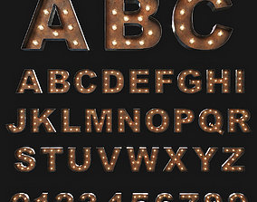 3D model Vintage Marquee Letters