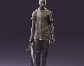 Junior with skateboard 0795 3D Print Ready figurine