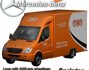 3D model Mercedes-Benz Sprinter TNT animated