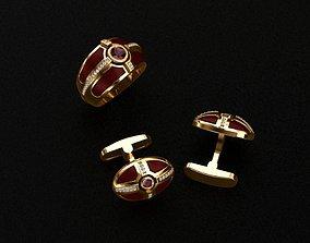 3D print model diamond Ring and Cufflinks