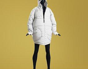 3D model SONDR Winter Coat Loose Open
