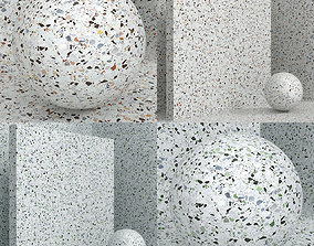 3D model Materials seamless coating stone terrazzo