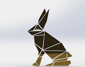 Rabbit wall decor 3D print model