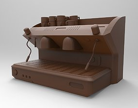 3D printable model coffee machine