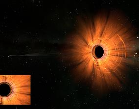 3D model M87 Black Hole - Animated full scene galaxy