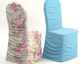 3D model set draping chair