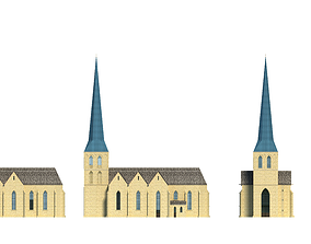 St Petri Church 3D model europe