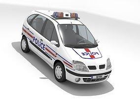 3D model Renault Scenic I 1999 Police