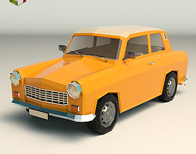 3D asset Low Poly Sedan Car 13