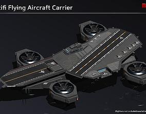 3D asset Flying Aircraft Carrier