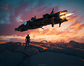Martian scene 3D model