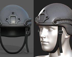 3D model Helmet military combat soldier armor Generic
