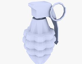 3D model Hand Grenade low poly