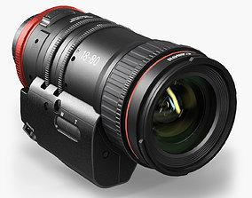 Canon Compact-Servo CN-E 18-80mm T4-4 EF Lens 3D asset