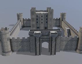Low Poly Medieval Castle 3D model low-poly
