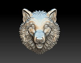 3D print model Wolf bas reliefe for coin jewelry
