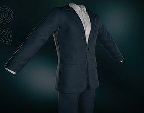 Blue Suit With White Shirt 3D asset