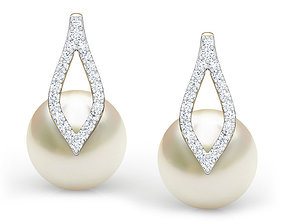 Petal Pearl Earring 3D printable model