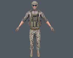 3D model game-ready Army Man